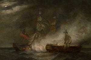 Capture of La Virginie by HMS Indefatigable – Thomas Luny (1759-1837)